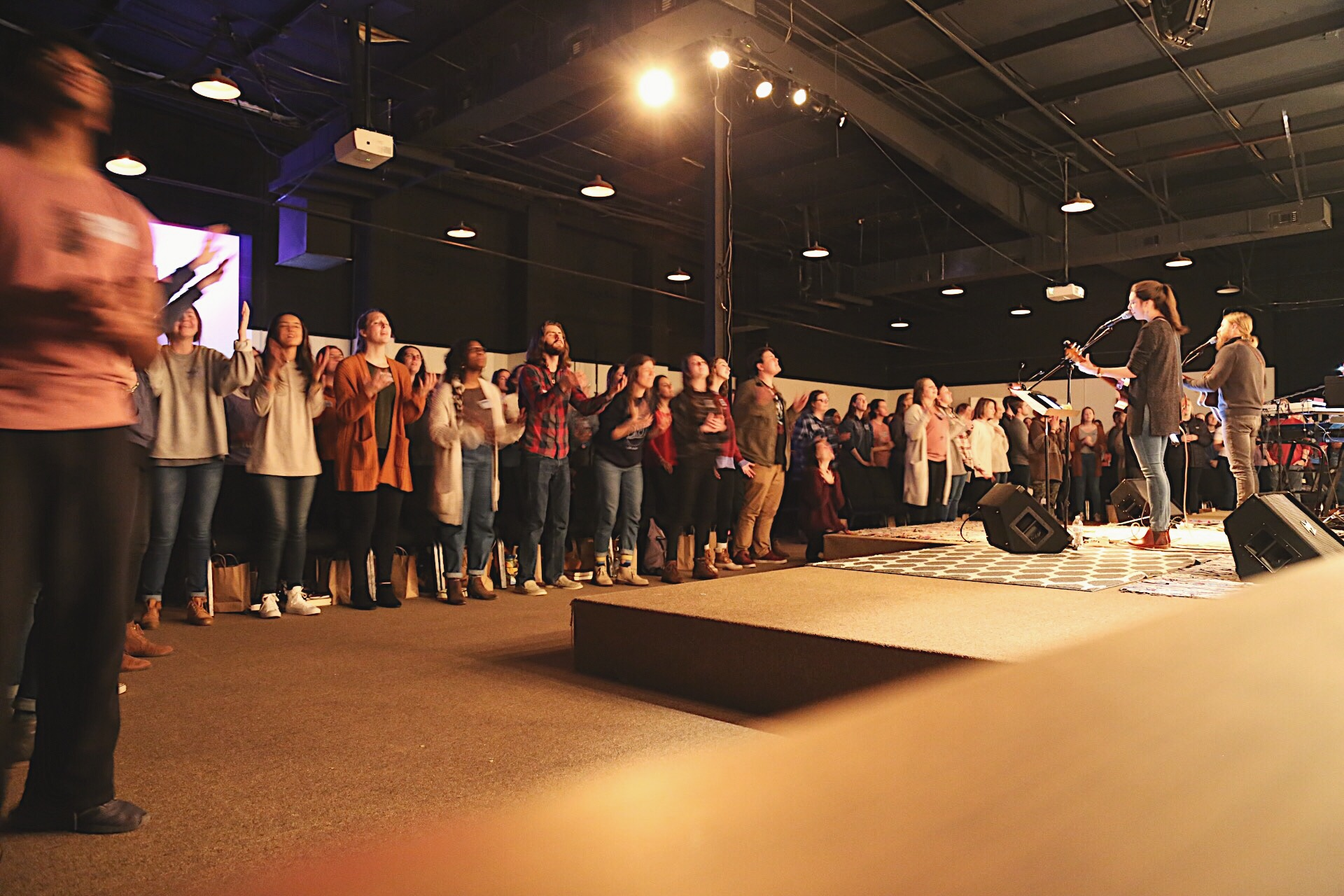 This is a picture of a time of worship at Fellowship Bible Church, Searcy.